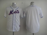 New York Mets Blank White Cool Base Stitched MLB Jersey