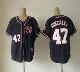 Washington Nationals #47 Gio Gonzalez Navy Blue Cool Base Stitched MLB Jersey