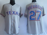 Texas Rangers #27 Vladimir Guerrero Stitched Grey MLB Jersey