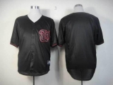 Washington Nationals Blank Black Fashion Stitched MLB Jersey