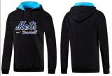 New York Mets Pullover Hoodie Black & Blue