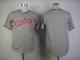 Washington Nationals Blank Grey Cool Base Stitched MLB Jersey