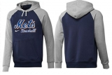 New York Mets Pullover Hoodie Dark Blue & Grey