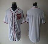 Washington Nationals Blank White Cool Base Stitched MLB Jersey