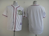 Washington Nationals Blank White USMC Cool Base Stitched MLB Jersey