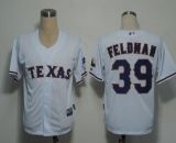 Texas Rangers #39 Scott Feldman White Cool Base Stitched MLB Jersey