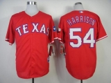 Texas Rangers #54 Matt Harrison Red Cool Base Stitched MLB Jersey