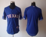 Texas Rangers Blank Blue 40th Anniversary Patch Stitched MLB Jersey