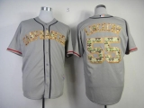 San Francisco Giants #55 Tim Lincecum Grey USMC Cool Base Stitched MLB Jersey