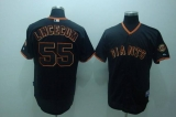 San Francisco Giants #55 Tim Lincecum Stitched Black MLB Jersey
