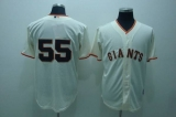 San Francisco Giants #55 Tim Lincecum Stitched Cream MLB Jersey