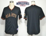 San Francisco Giants Blank Black Cool Base W 2014 World Series Patch Stitched MLB Jersey