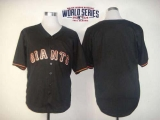 San Francisco Giants Blank Black Fashion W 2014 World Series Patch Stitched MLB Jersey