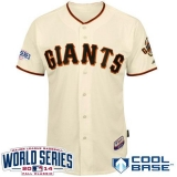 San Francisco Giants Blank Cream Cool Base W 2014 World Series Patch Stitched MLB Jersey