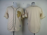San Francisco Giants Blank Cream Gold No Stitched MLB Jersey