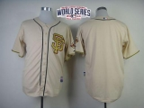 San Francisco Giants Blank Cream Gold No W 2014 World Series Patch Stitched MLB Jersey