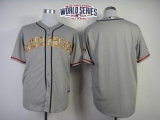 San Francisco Giants Blank Grey USMC Cool Base W 2014 World Series Patch Stitched MLB Jersey