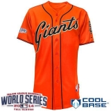 San Francisco Giants Blank Orange Cool Base W 2014 World Series Patch Stitched MLB Jersey