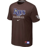 Tampa Bay Rays Brown Nike Short Sleeve Practice T-Shirt