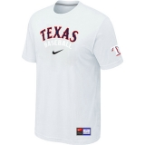 Texas Rangers White Nike Short Sleeve Practice T-Shirt