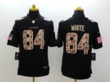 Nike Falcons #84 Roddy White Black NFL Limited Salute to Service Jersey