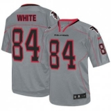 Nike Falcons #84 Roddy White Lights Out Grey Men\'s Stitched NFL Elite Jersey