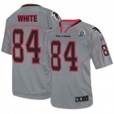 Nike Falcons #84 Roddy White Lights Out Grey With Hall of Fame 50th Patch Men\'s Stitched NFL Elite Jersey