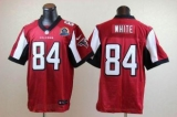 Nike Falcons #84 Roddy White Red Team Color With Hall of Fame 50th Patch Men\'s Stitched NFL Elite Jersey