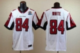 Nike Falcons #84 Roddy White White With Hall of Fame 50th Patch Men\'s Stitched NFL Elite Jersey