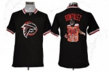 Nike Falcons #88 Tony Gonzalez Black Men\'s NFL Game All Star Fashion Jersey