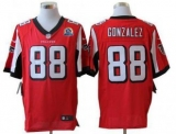 Nike Falcons #88 Tony Gonzalez Red Team Color With Hall of Fame 50th Patch Men\'s Stitched NFL Elite Jersey