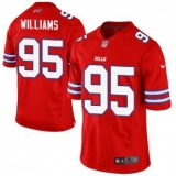 Nike Buffalo Bills #95 Kyle Williams Red Men\'s Stitched NFL Elite Rush Jersey