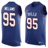 Nike Buffalo Bills #95 Kyle Williams Royal Blue Team Color Men\'s Stitched NFL Limited Tank Top Jersey