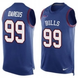 Nike Buffalo Bills #99 Marcell Dareus Royal Blue Team Color Men\'s Stitched NFL Limited Tank Top Jersey