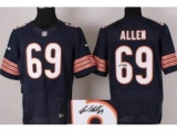 Nike Chicago Bears 69 Jared Allen Blue Signed Elite NFL Jerseys