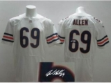 Nike Chicago Bears 69 Jared Allen White Signed Elite NFL Jerseys