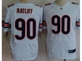 Nike Chicago Bears 90 Ratliff White Elite NFL Jerseys