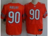 Nike Chicago Bears 90 Ratliff Orange Elite NFL Jerseys