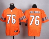Nike Chicago Bears#76 Eddie Goldman Orange Alternate Men\'s Stitched NFL Elite Jersey