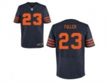 Nike Jerseys Chicago Bears 23 Fuller blue Elite number orange
