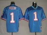 Mitchell & Ness Oilers #1 Warren Moon Baby Blue Stitched Throwback NFL Jersey