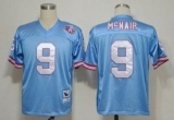 Mitchell And Ness Oilers #9 Steve McNair Baby blue Stitched Throwback NFL Jersey