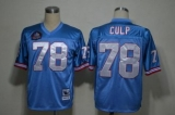 Mitchell And Ness Oilers #78 Curley Culp Baby blue Stitched Throwback NFL Jersey