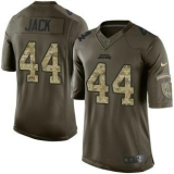 Nike Jaguars #44 Myles Jack Green Men\'s Stitched NFL Limited Salute to Service Jersey