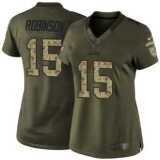 Women\'s Nike Jaguars #15 Allen Robinson Green Stitched NFL Limited Salute to Service Jersey