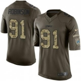 Nike Lions #91 A\'Shawn Robinson Green Men\'s Stitched NFL Limited Salute to Service Jersey