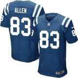Nike Indianapolis Colts #83 Dwayne Allen Royal Blue Team Color Men\'s Stitched NFL Elite Jersey