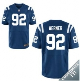 Nike Indianapolis Colts #92 Werner Jerseys Blue Elite Home Jersey