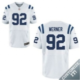 Nike Indianapolis Colts #92 Werner Jerseys White Elite Road Jersey