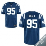 Nike Indianapolis Colts #95 Moala Jerseys Blue Elite Home Jersey